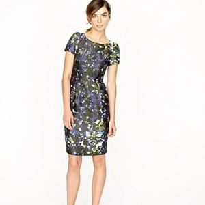 J Crew Lillian Watercolor Silk Dress 00